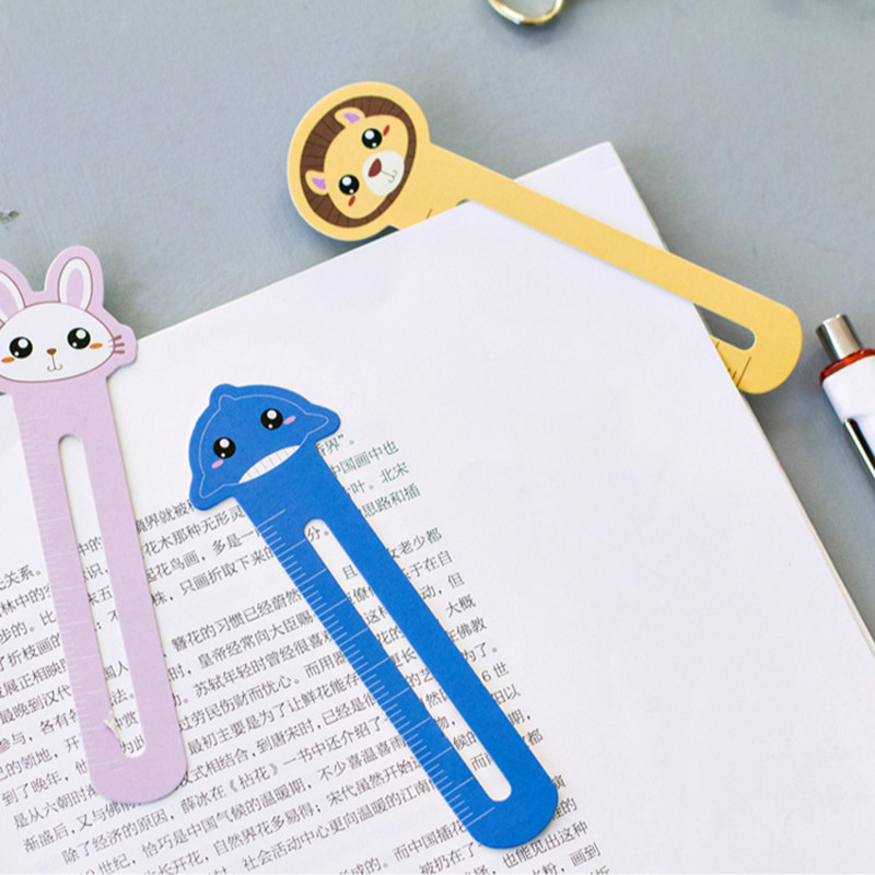 30pcs/box Cute Kawaii Animal Farm Paper Bookmark For Book Holder Multifunction Bookmark Stationery Children School Supplies