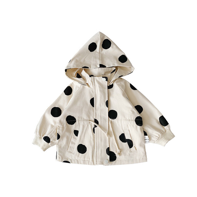 Boys Dot Hooded Trench...