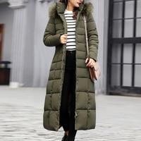 OEAK Trendy Coat Women Winter Jacket Cotton Padded Warm Maxi Puffer Coat 2019 New Style Ladies Long Coats Parka Femme Jacket
