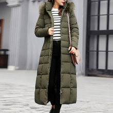 OEAK Trendy Coat Women Winter Jacket Cotton Padded Warm Maxi Puffer Coat 2019 Ne