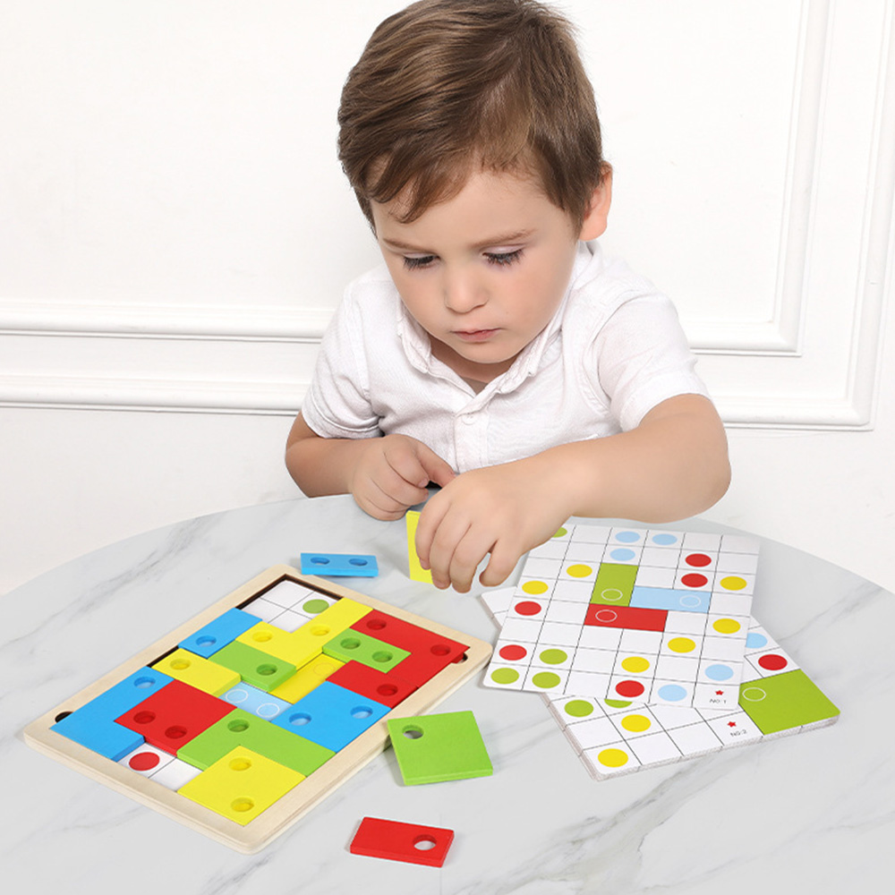 Kid Logical Thinking Puzzle Toys Interesting Early Learning Wooden Game Math Toys Educational Play Toys Enlightenment Puzzle