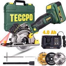 Boîte de rangement pour Batterie 18V, 4 ah, Chargeur Rapide 1h, 3 Lames Ø 89mm, 3100RPM, Guide Laser