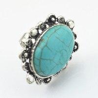 R188 1 шт палец кольцо овальный камень ювелирные изделия заводская цена винтажный Тибетский сплав оптовая продажа