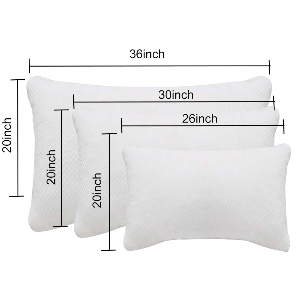 Купить с кэшбэком Adjustable Height Breathable Memory Cotton Invisible Zipper Hotel Home Pillow