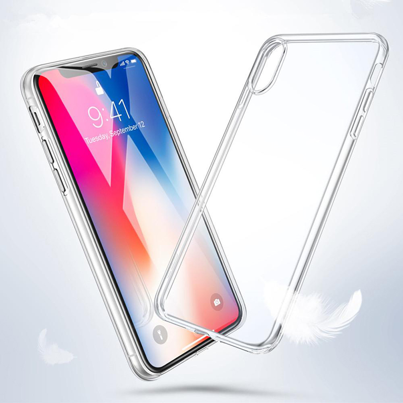 Rsionch Clear Silicone Soft TPU Case for iPhone11 Pro Max X XS XR XS Max Transparent Phone Case for iPhone 11Pro 6 7 8 6S Plus 5