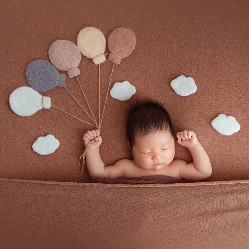 Baby Wool Felt Balloon/Cloud Decorations Newborn Photography Props Infant Photo Shooting Accessories