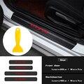 Автомобильный Стайлинг 4 шт. порога двери педаль подоконника протектор наклейки из углеродного волокна для Honda CIVIC FD2 Фо фа 5 Mugen TypeR гонки