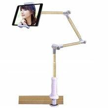 מתקפל ארוך זרוע Tablet טלפון Stand מחזיק עבור Ipad פרו 12.9 11 10.5 סמסונג קינדל 4 14 אינץ עצלן מיטת Tablet הר Bracket
