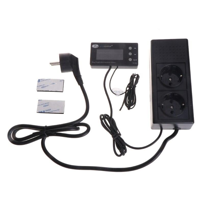 LCD Reptile Digital Repile Thermostat Temperature Control Heat Cool US EU Plug