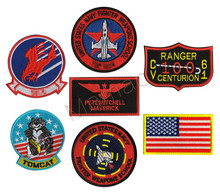 3D Embroidery US Naval Aviation Fighter Pilot Eagle Aircraft Tomcat Patch Army Arms Morale Badge Set for Flight Suit