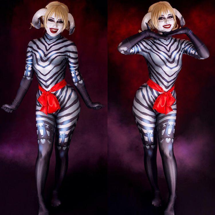Костюм Кэтрин суккубус для косплея Хэллоуин зентай боди костюм комбинезоны для девочек женщин взрослых детей