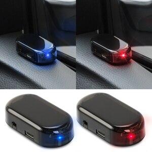 Image 2 - שמש USB כוח רכב מעורר אור נגד גניבת אזהרה עבור מאזדה honda crv סובארו אימפרזה a4 b7 יונדאי ix35 סקודה מעולה bmw e65