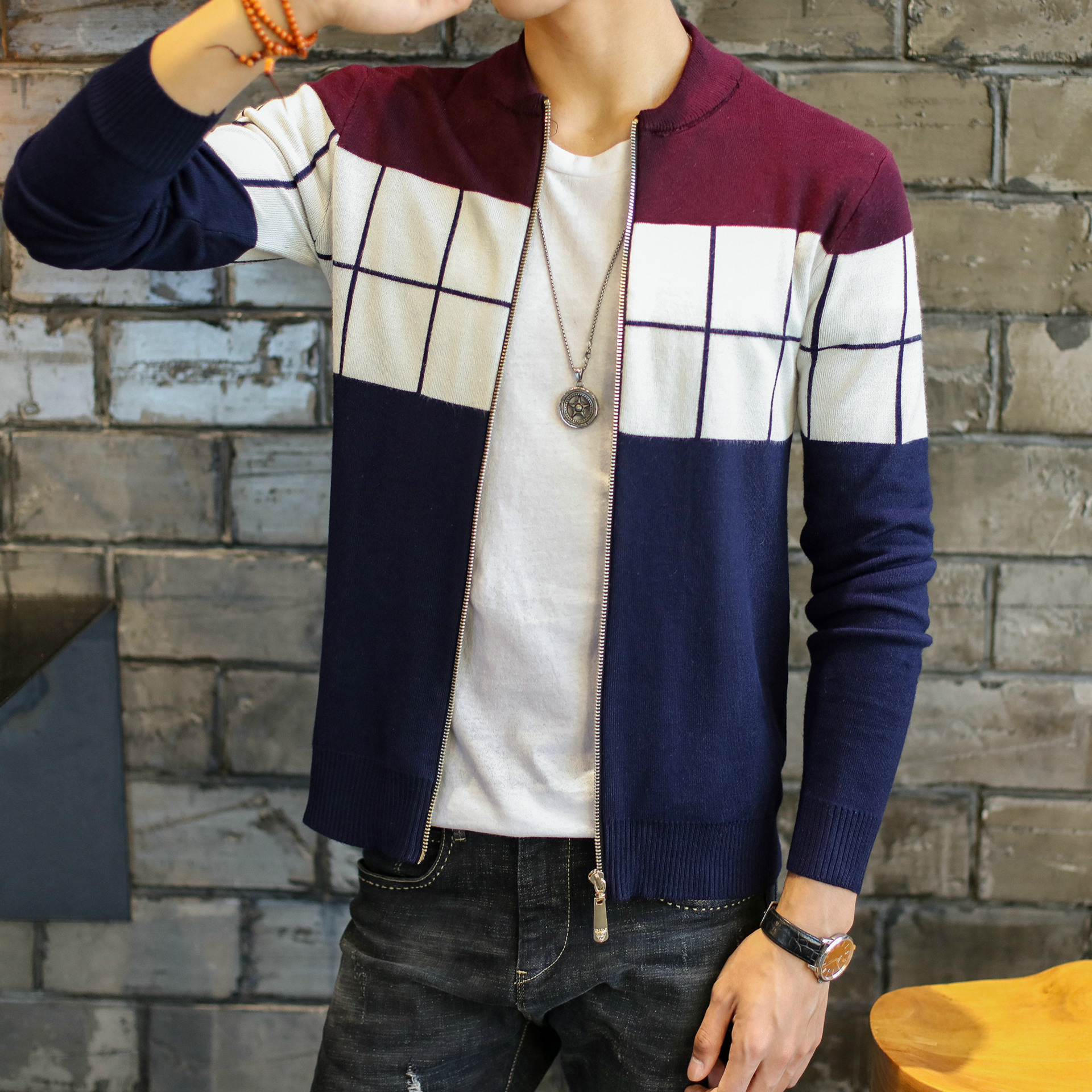 Cheap Wholesale 2018 Spring Autumn Winter Hot Selling Men Fashion Casual Warm Nice Sweater Male Artificial Wool Jacket
