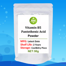 Food Grade Vitamin B5 Pantothenic Acid Powder,D-Panthenol Powder,Vitamin B5 Supplements,Pantothenic Acid Powder,VB5,Coenzyme-A