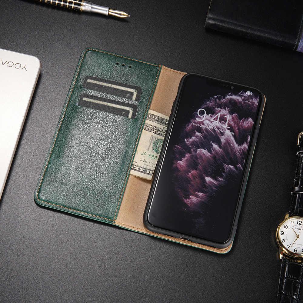 Kulit Case Magnet Case untuk Samsung Galaxy J3 J7 2017 J4 Plus J6 Plus J8 2018 J2 Pro J5 Perdana j530 J730 J310 Flip Dompet Tritone