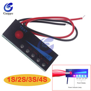1S2S3S4S 12V Lead Acid Battery18650 Li ion Lipo Lithium Battery Level Indicator Tester LCD Display Meter Module Capacity|Battery Testers| |  -