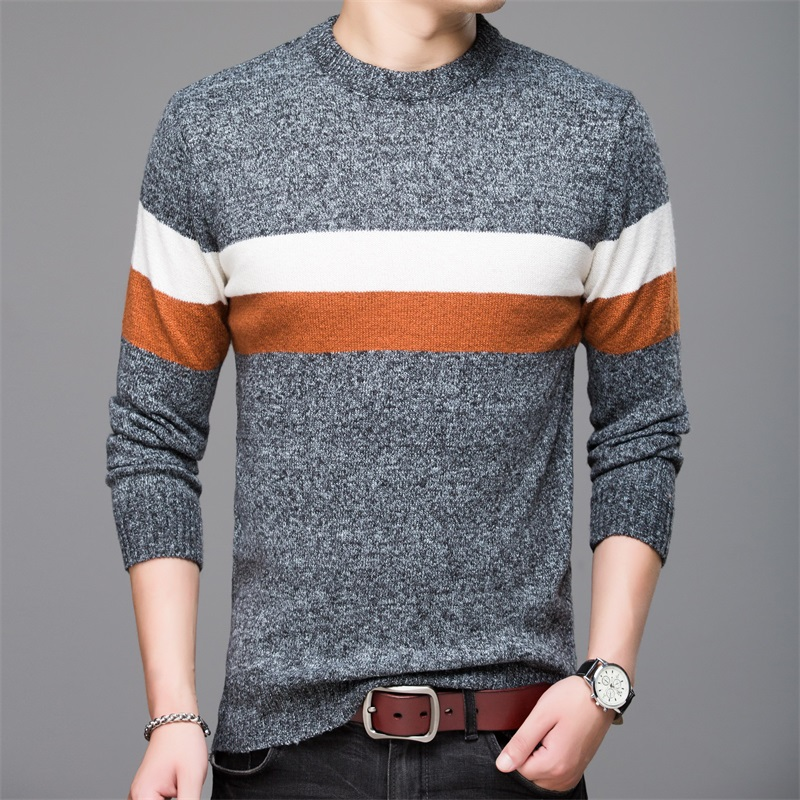 2020 New Fashion Brand Sweaters Man Pullovers O-Neck Slim Fit Jumpers Knitwear Woolen Autumn Korean Style Casual Mens Clothes