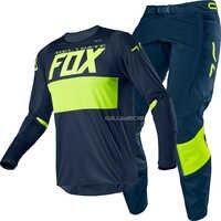 Free shipping 2020 Delicate Fox MX 360 Bann Navy Jersey trousers Motocross off-road racing Sx Mx men's gear set