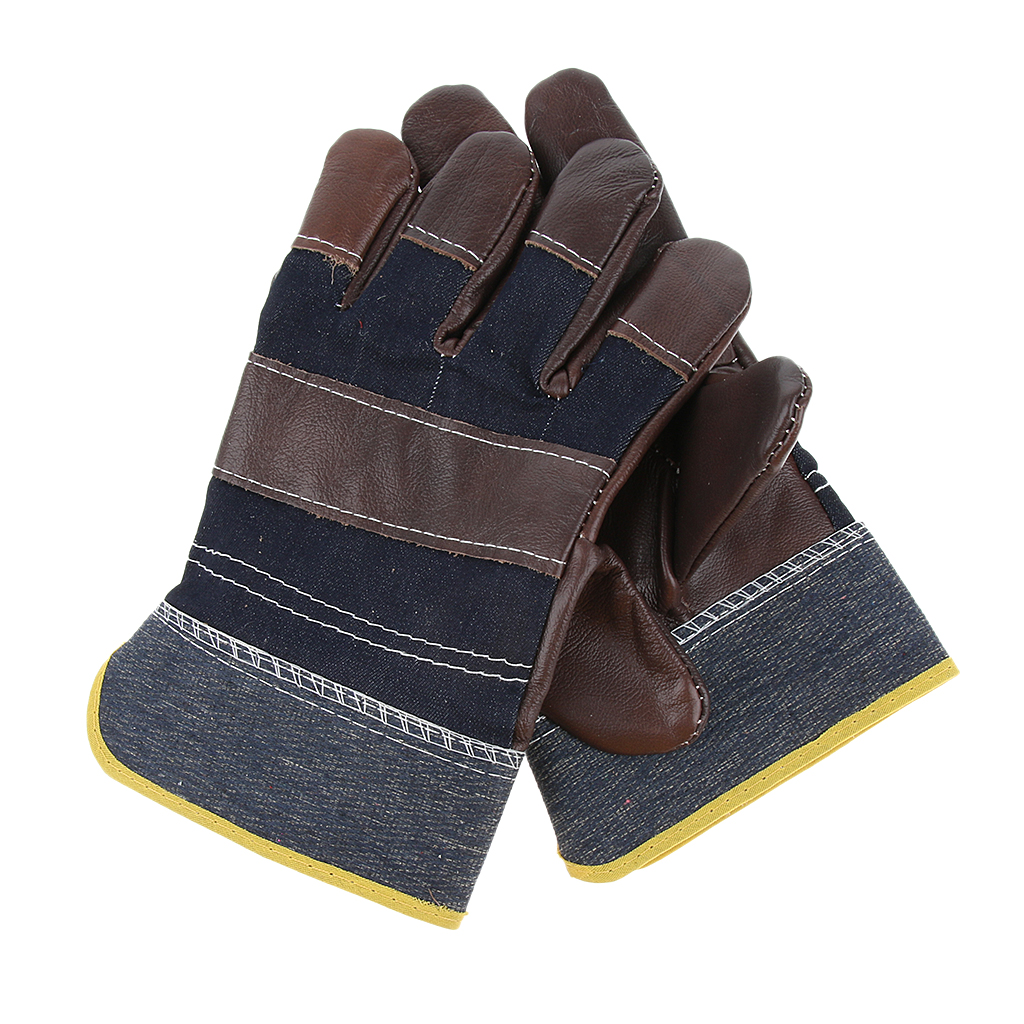 Welding Gloves Leather BBQ Camping Cooking Weld Gloves Gloves Mitts 245mm