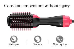 Image 4 - 2 ב 1 משולבת שיער מייבש & מעניק נפח מסתובב שיער מברשת רולר לסובב Styler מסרק סטיילינג יישור קרלינג ברזל