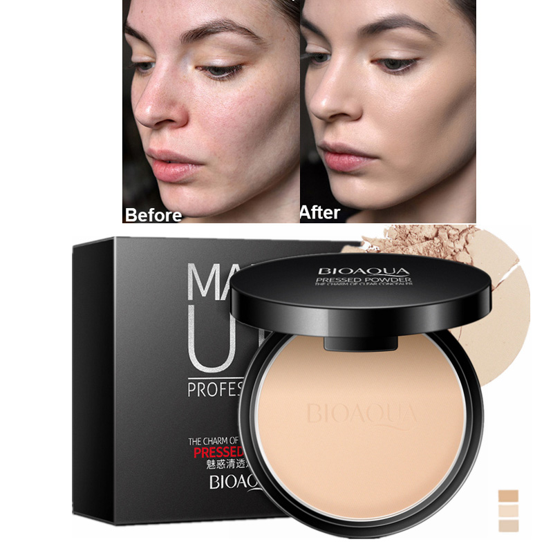 Hot Sale Matte Pressed Powder Makeup Concealer Oil-control Face Setting Foundation Facial Make Up Mineral Compact Powder image