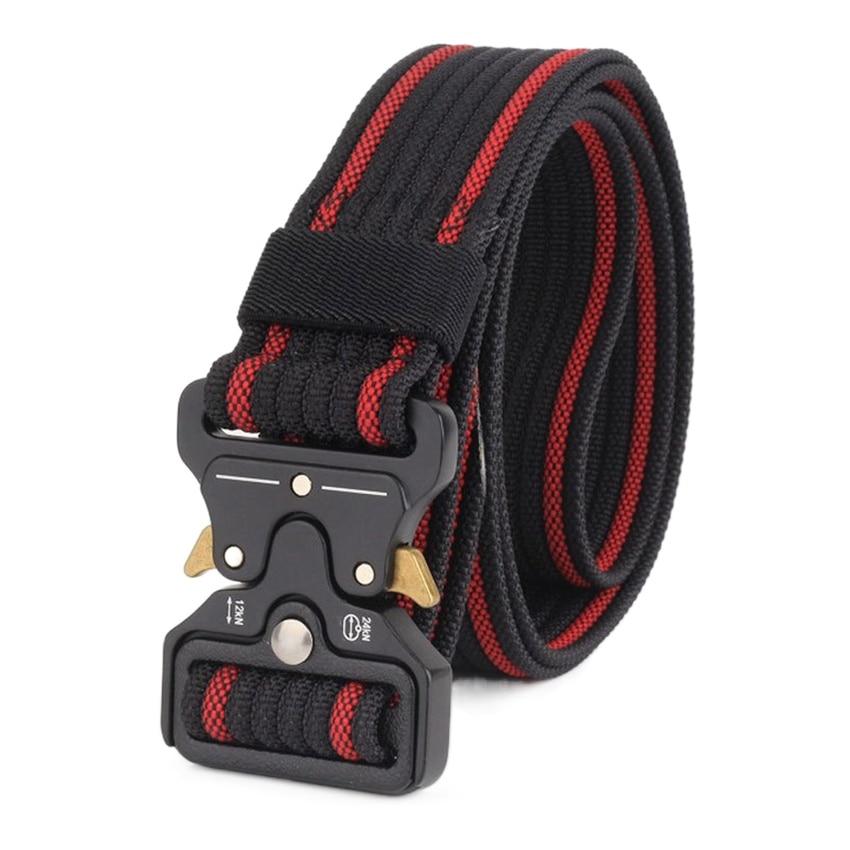 Men's Belt Nylon Durable Military Tactical Belts For Men Metal Buckle Strap Outdoor Work Comfortable Cowboy Waistband Adjustable