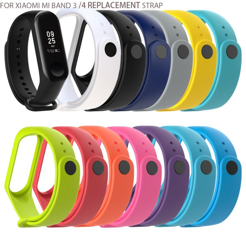 2PCS For Xiaomi Mi Band 3 4 Strap Bracelet Silicone Wristband Bracelet For Mi Band 3 Strap Smart For Mi Band3 Wrist Strap