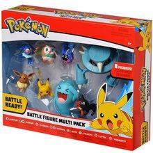 8 pçs/set detetive Pikachu Pokemon Monstro de Bolso Pikachu Boneca PVC Action Figure игрушки Batalha coletor de Decoração presentes Dos Miúdos