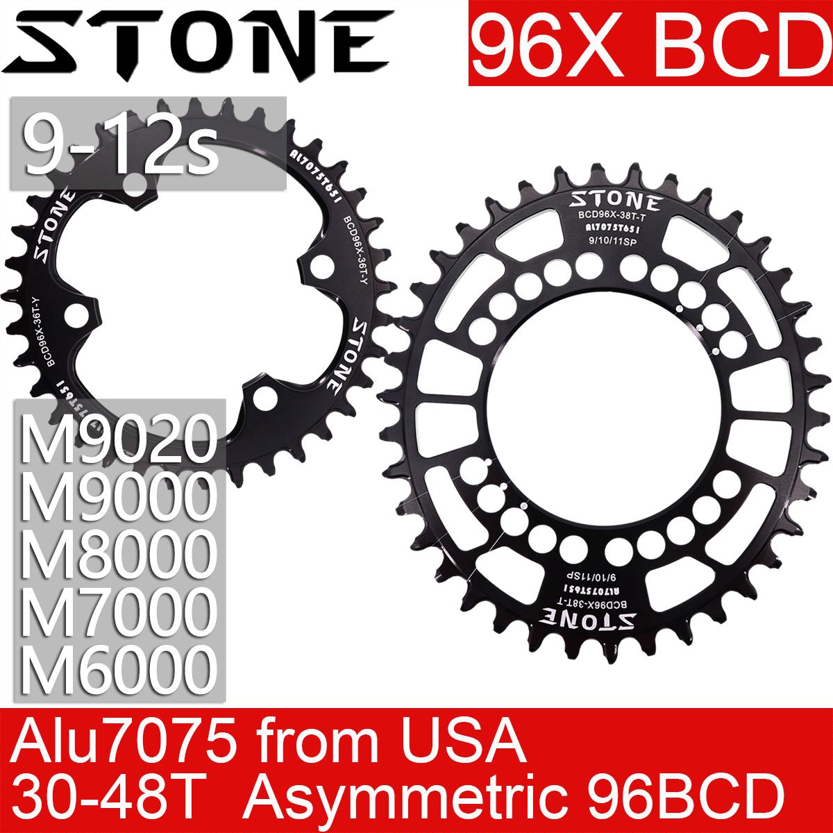 Stone Bike Oval Single Chainring 96BCD For SHIMANO slx M7000 xt M8000 M9000