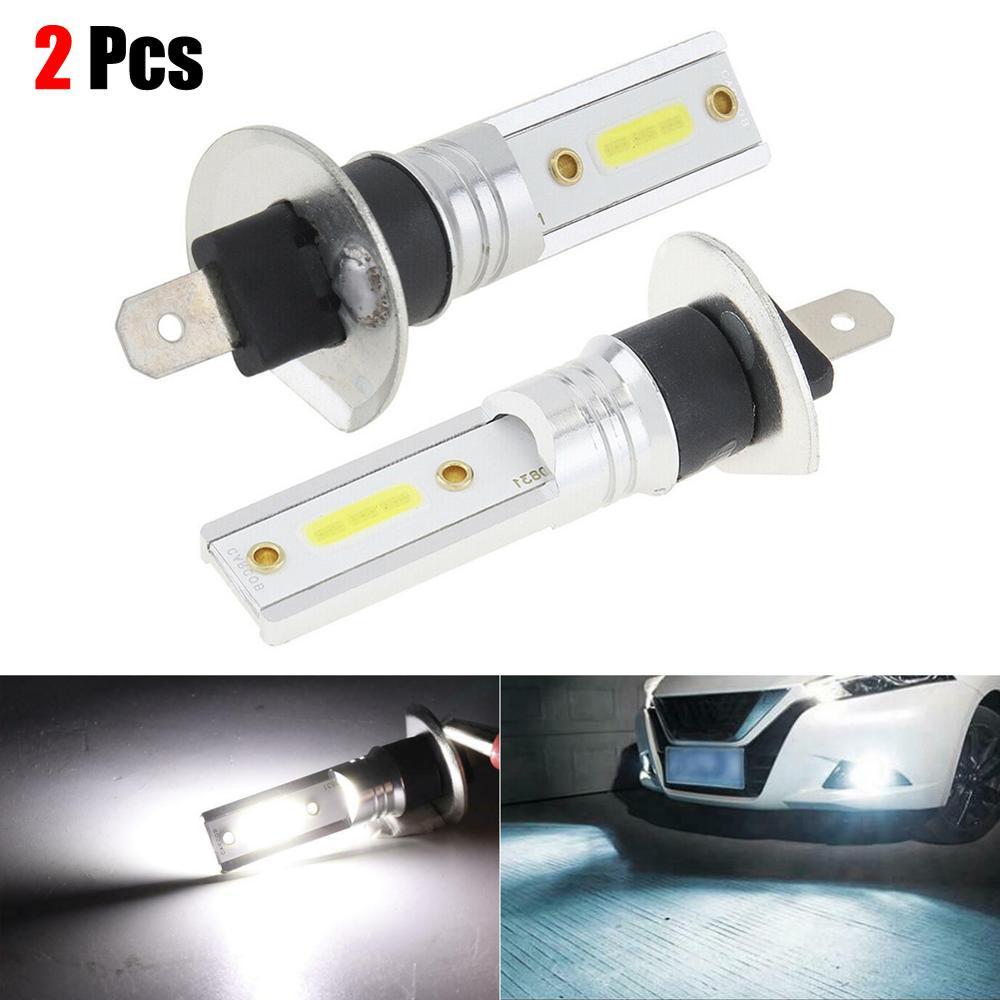Hot Sale 2PCS Car H1 COB LED Headlight Hi/Lo Beam DRL Driving Light Lamp Bulb White 6500K Led Car Light Bulbs Wholesale CSV