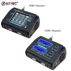 HTRC T240 C240 RC Зарядное устройство DUO AC 150 Вт DC 240W 10A двухканальный Lipo Батарея баланс Зарядное устройство Dis Зарядное устройство для Мультикоптер ...
