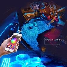 8m rgb fiber optic car interior decorative ambient light app
