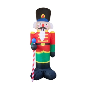 2020 Christmas Cartoon Soldier Inflatable Airblown Ornaments Prop Yard Giant Lawn A2UB