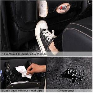 Image 3 - Pu Leder Pad Tasche Auto Sitz Organizer Faltbare Tisch Tablett Reise Lagerung Tasche Faltbare Esstisch Auto Sitz Lagerung Tasche