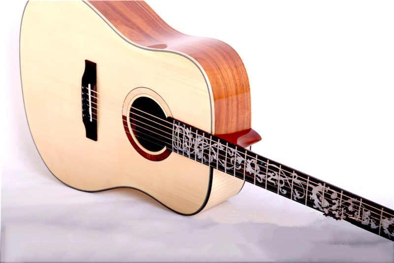 De alta calidad de 41 pulgadas guitarra abeto de madera maciza 6 cuerdas guitarra acústica patrón de tigre de GuitarAGT146