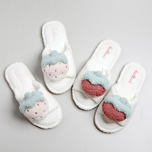 strawberry slippers home indoor non-slip cotton mop soft three-dimensional cute bottom