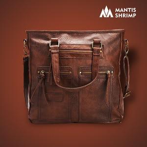 Image 1 - Sac fourre tout Vintage pour femmes, sac pour ordinateur portable de bureau, sacoche à bandoulière de marque, décontracté
