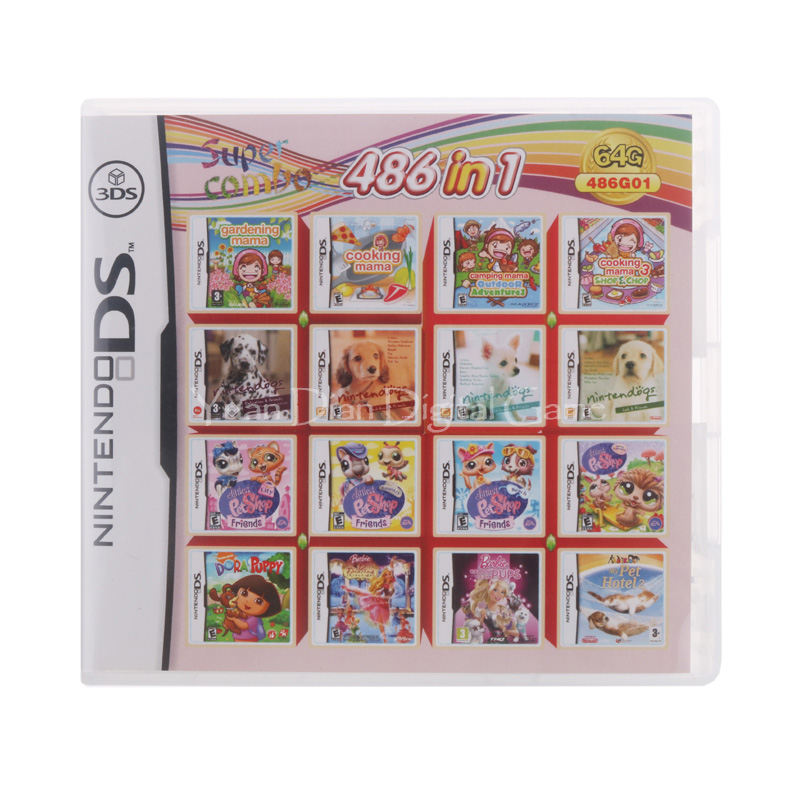 486 In 1 Compilation Video Game Cartridge Card For Nintendo DS 3DS 2DS Super Combo Multi Cart