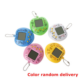 LCD Virtual Digital Pet Handheld Electronic Game Machine With Keychain Heart Shape