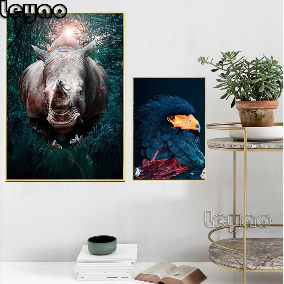 African Wild Rhino Animal Diamond Painting Eagle Hummingbird Paintings Light luxury Diamond Mosaic Diamond Embroidery wall art