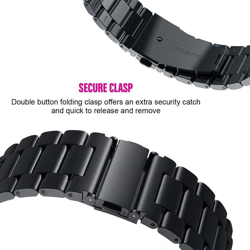 Watchband Sets for Samsung galaxy watch active 2 40mm 44mm bands 20mm Stainless Steel Metal bracelet wrist strap for active2