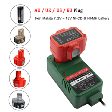 Battery Charger For Makita 7.2V - 18V Chargers NI-CD NI-MH Electric Drill Tools Battery Charger 6226DWE 6010D 6261D 6270D power tool battery 18v ni cd ni mh 5000mah rechargeable for hitachi drill eb1820 eb1814 eb1826hl eb1830hl 322437 battery