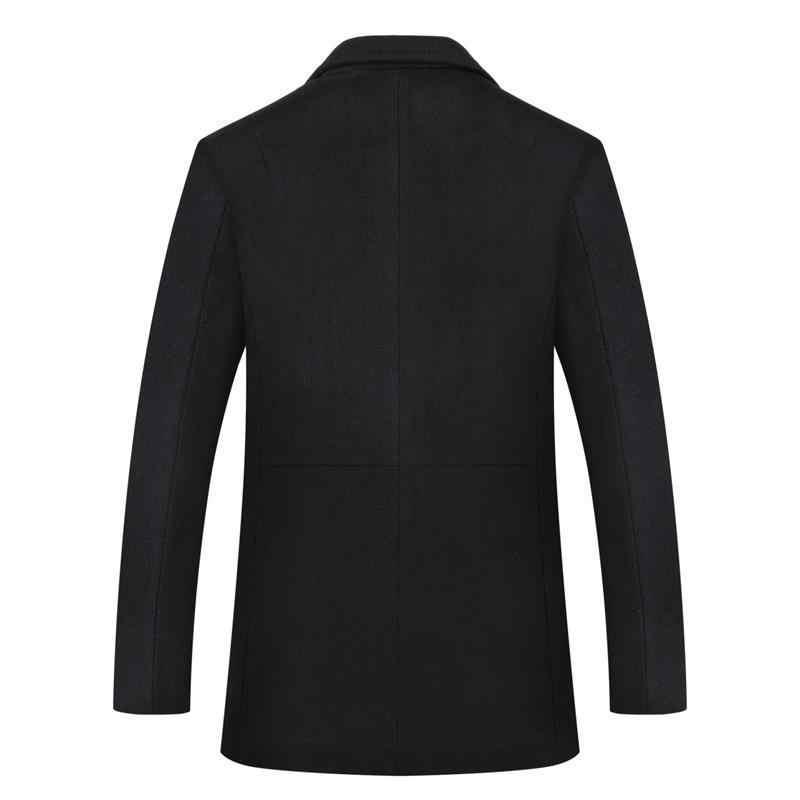 8XL artı boyutu erkek kaşmir ceket kış ceket erkekler manteau homme erkek orta uzun erkekler yün coatovercoat eğlence giyim palto