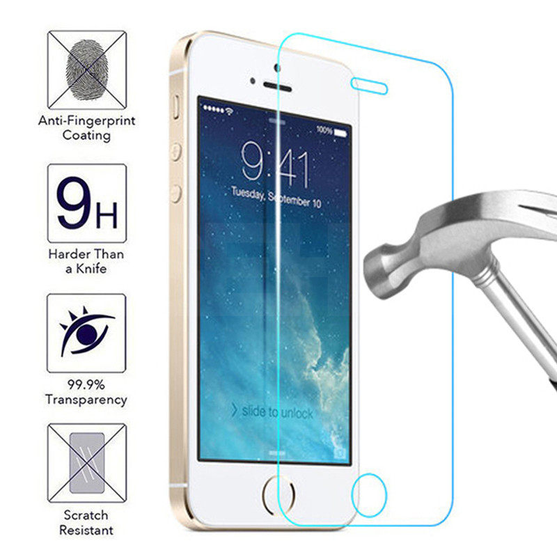 9H Tempered Glass on the For iPhone 11 Pro X XR XS Max Screen Protector For iPhone 5 5S 5C SE 4 4S Safety Protective Glass Film