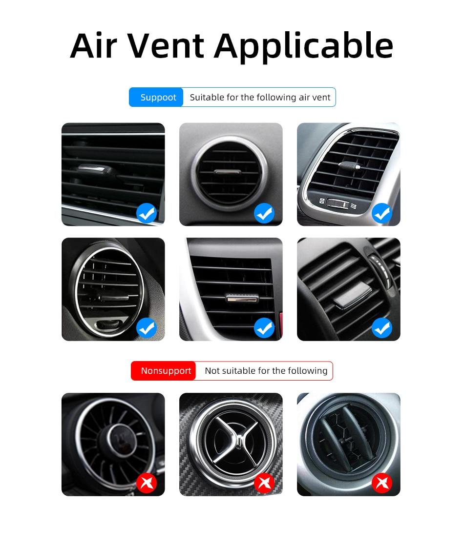 360 Metal Magnetic Car phone Holder Air vent Magnetic car Holder