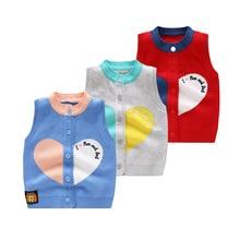 Vest Girls Baby-Boys Kids Spring for And Knitting Coat Sleeveless Bebe/toddler Keep-Warm