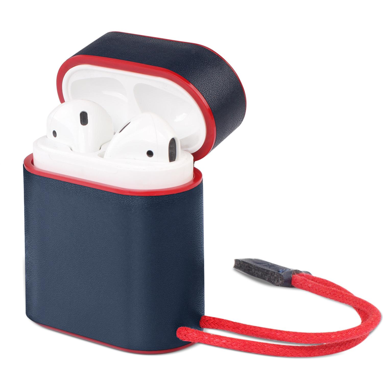 Кожаный чехол из микроволокна для apple airpods bluetooth беспроводные