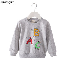 Baby Sweatshirt Spring Autumn Baby Clothes Long Sleeve Cute Cartoon Baby Girls Boys Tops Casual Cotton Clothing Baby Clothes cheap Unini-yun spandex Fashion Without 9 88 O-Neck REGULAR Unisex Fits true to size take your normal size