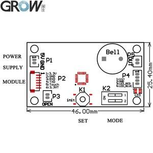Image 3 - GROW K200 3.3+R502 A Circular Ring Indicator Light Capacitive Fingerprint Access Control Board