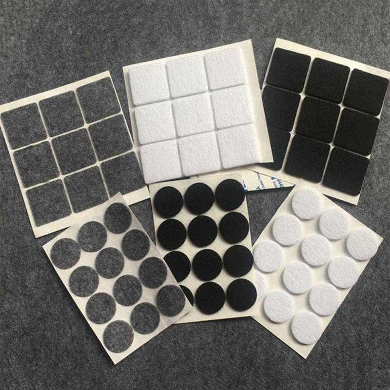 100 Pcs Round Felt Feet Mats Non-Slip Self-Adhesive Furniture Pads Floor Protector Furniture Chair Table Legs Pads  1.2 X 0.3 Cm